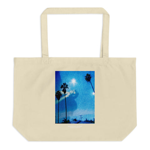 Pool & Palm Trees Large Organic Tote