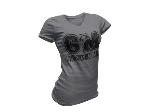 Black Glitter Gravel Gymnastics Mom Tee