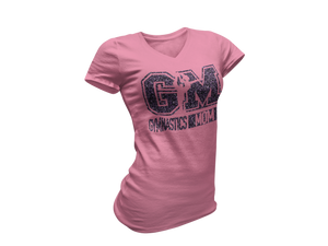 Purple Glitter Pink Gymnastics Mom Tee