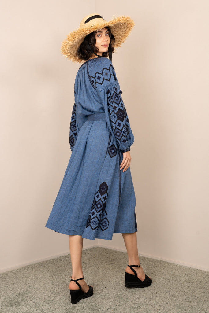Blue midi dress - My Sleeping Gypsy