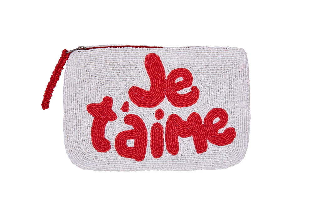 Je T'aime Bead Purse (weiß und rot) - The Jacksons