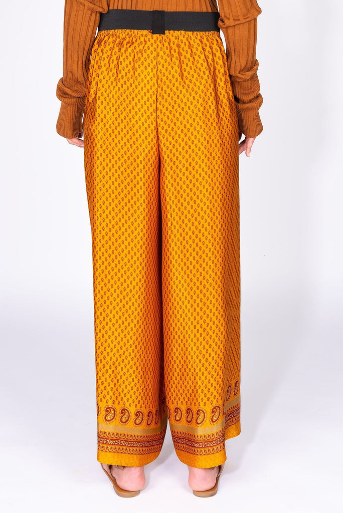Orange silk trousers - Obidi
