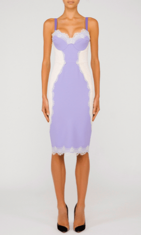 TWO TONE LACE DRESS - ELISABETTA FRANCHI
