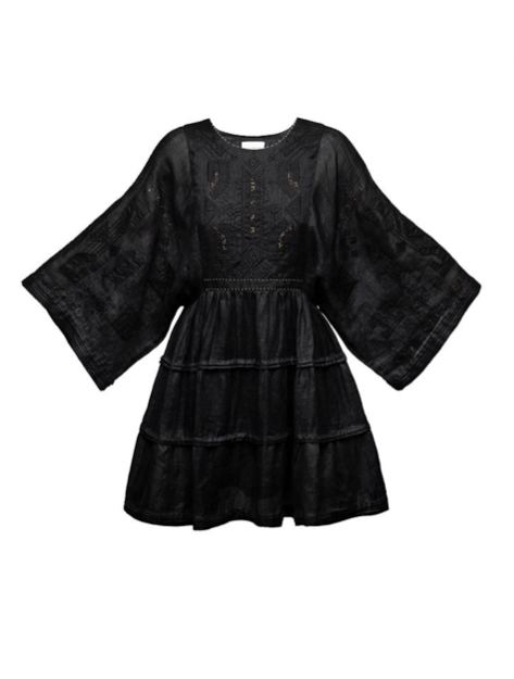 Braille Short Dress in black - My Sleeping Gypsy