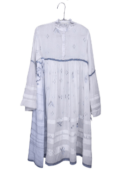 White Cotton Maxi Dress - Injiri