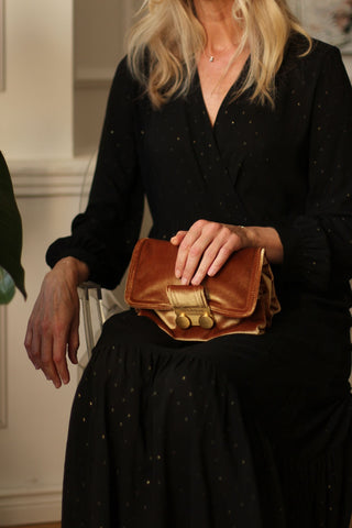 Amber small velvet crossbody bag