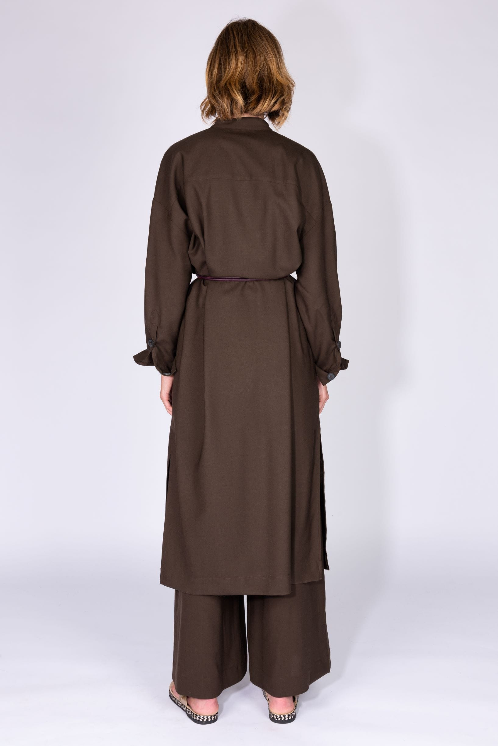 Merino wool maxi shirt dress from Phisique du Role