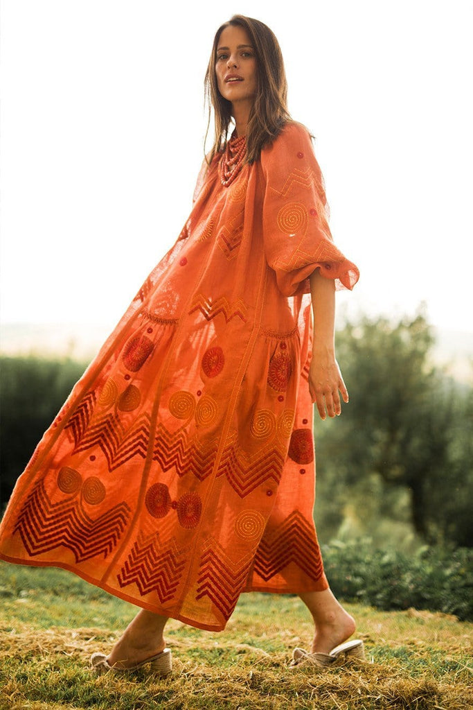 Orange maxi dress - My Sleeping Gypsy