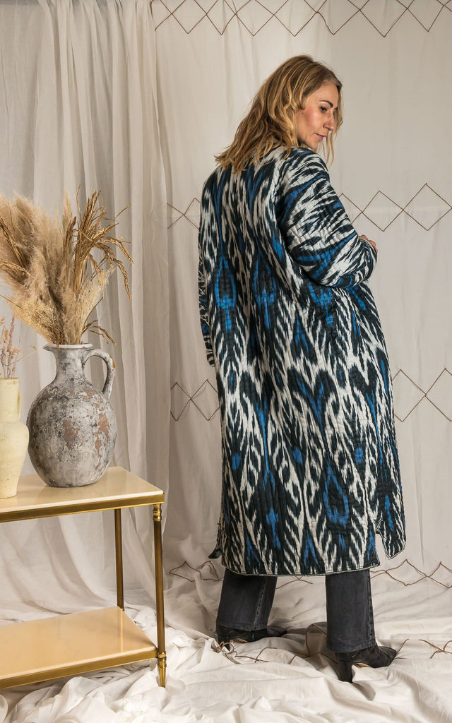 Ikat cotton coat - Olga Mul
