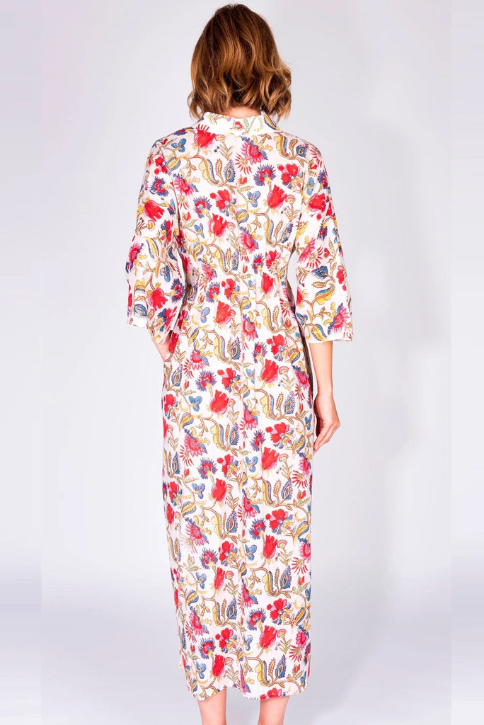 Multicolored cotton kimono dress - Obidi