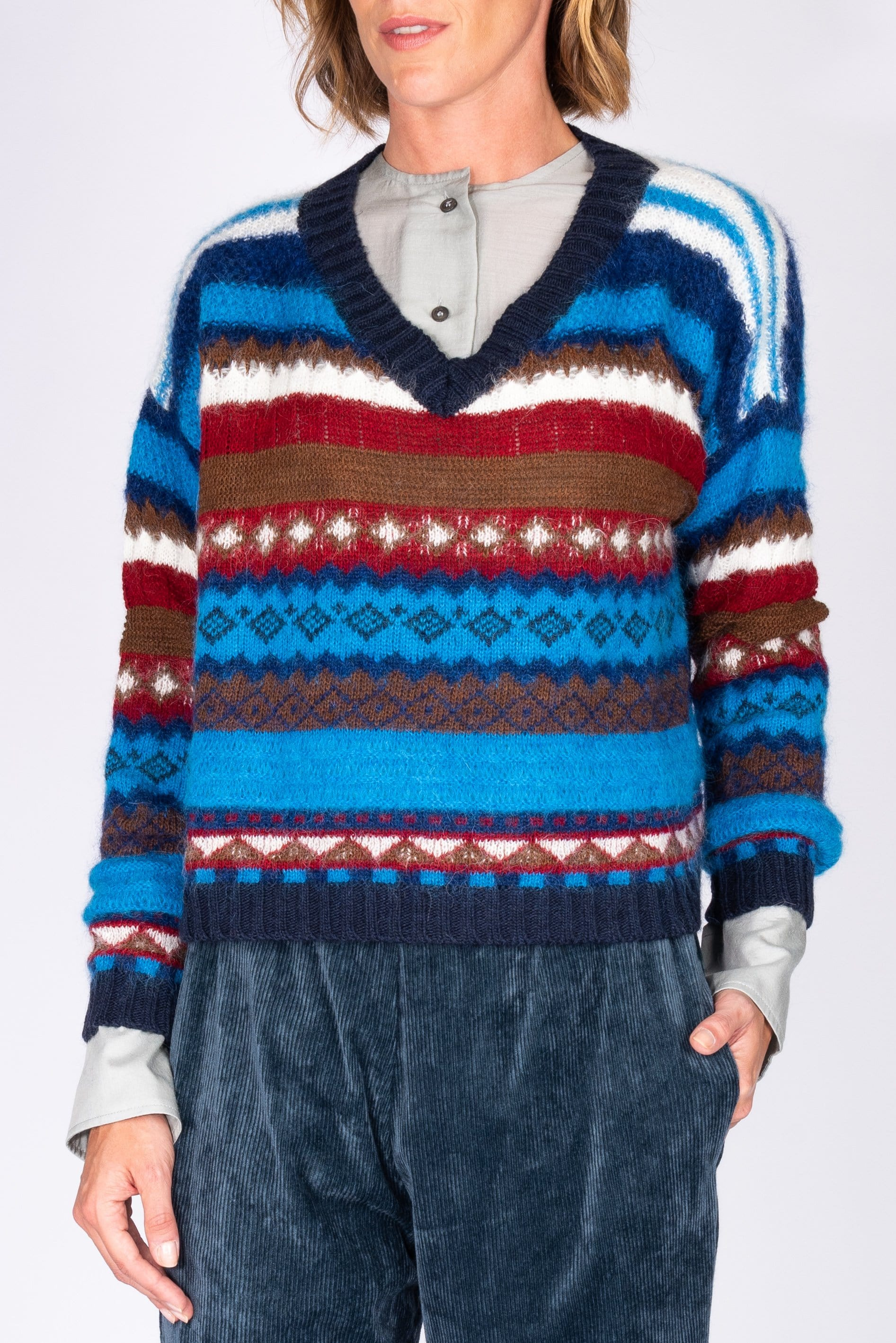 Multicolored striped sweater from Phisique du Role