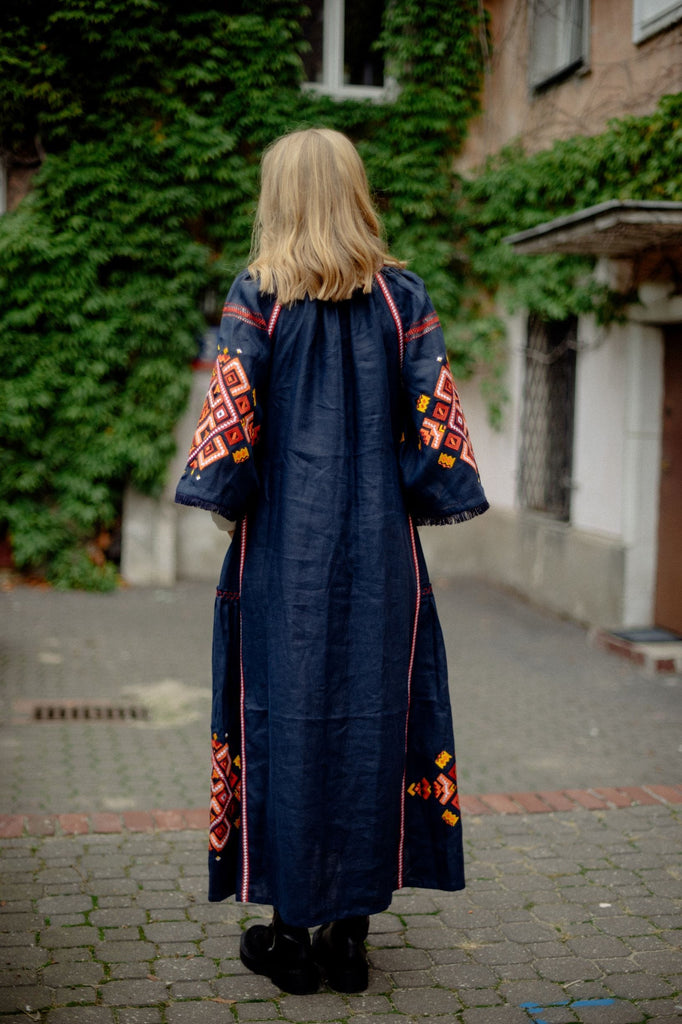Navy blue maxi dress - My Sleeping Gypsy