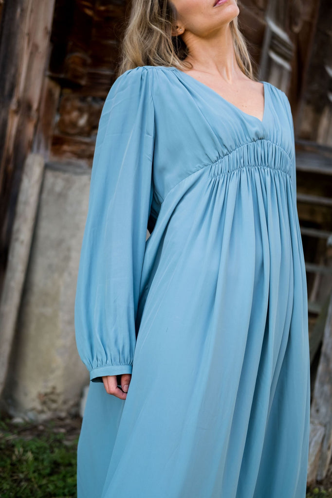 Ocean blue midi dress from Phisique du Role