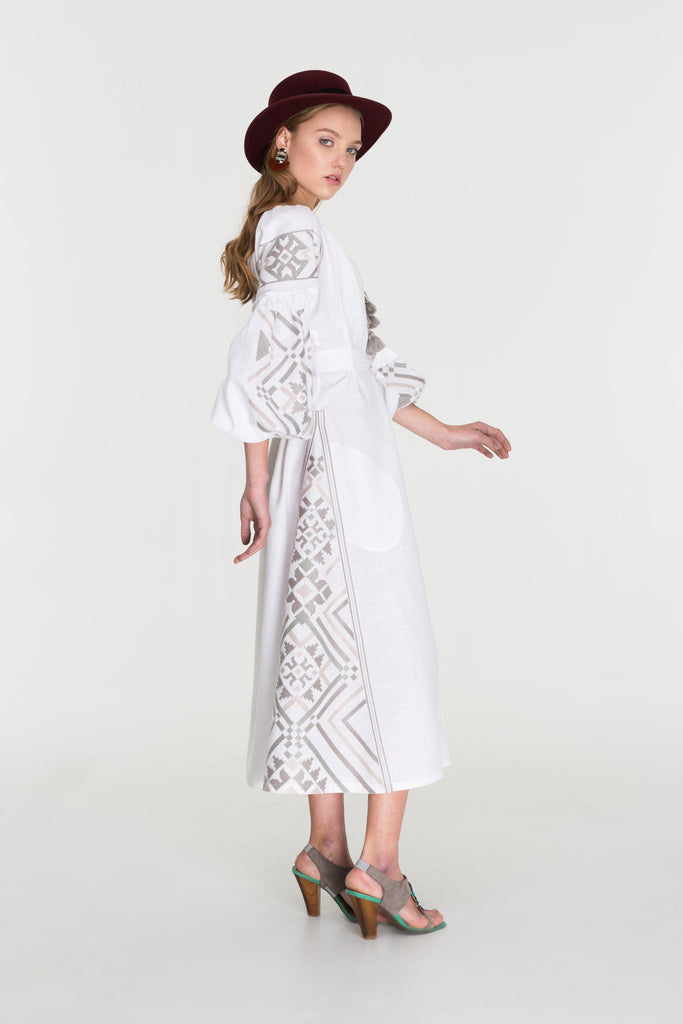 White pastel midi dress - My Sleeping Gypsy