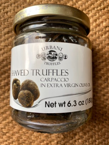 Shaved Truffles in Extra Virgin Olive Oil  6.3 oz.