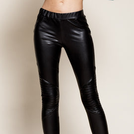 "The ""Fashion Forward""- Faux Leather Legging  Black Pants"
