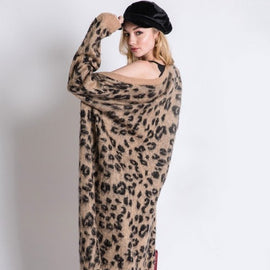 "The ""On The Wild Side"" Leopard Animal Maxi Cardigan"