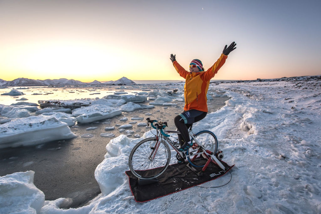 Just A Girl, Her Road Bike And Some Polar Bears