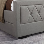 Las Vegas Storage Bed Frame - Soft Grey Fabric