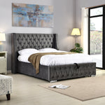 Fusion Ottoman Storage Bed Frame - Soft Grey Fabric