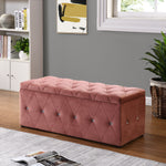 Blanket Box - Soft Pink Velvet with Diamonds