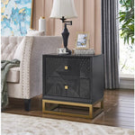 Colorado 2 Drawer Side Table Dark Navy