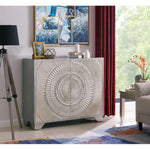 Sienna 2 Door Sideboard Champagne Silver