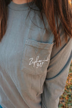 Load image into Gallery viewer, Zephaniah 3:17 Long Sleeve Pocket // Grey