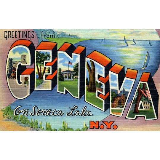 Greetings from Geneva Matted Print (8x10)