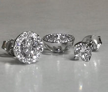Load image into Gallery viewer, 2-In-1 Halo Stud Earrings/18k White Gold & Premium Cubic Zirconia - infinityXinfinity.co.uk