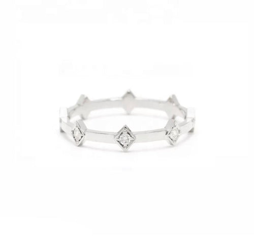 Eternity Ring/Crown 18K White Gold & Premium Cubic Zirconia - infinityXinfinity.co.uk
