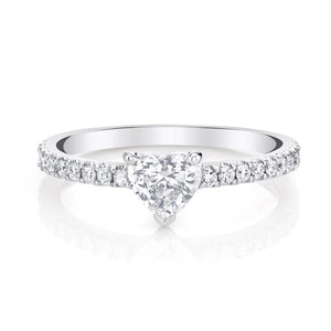 Promise Ring/18K White Gold & Cubic Zirconia - infinityXinfinity.co.uk