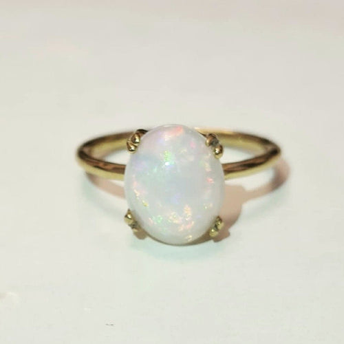 Opal Ring/18k Yellow Gold Vermeil - infinityXinfinity.co.uk