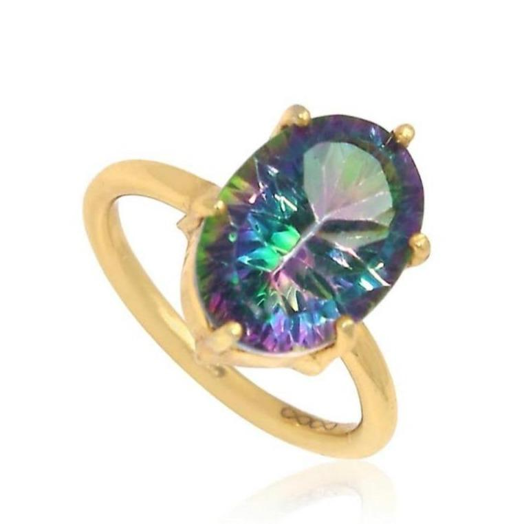 The Universe Ring/Mystic Topaz 18k Yellow Gold Vermeil - infinityXinfinity.co.uk