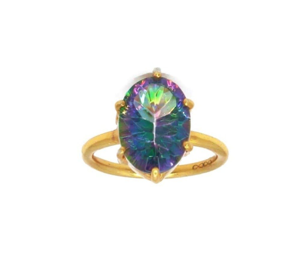 Buy Mystic Topaz Gold Ring