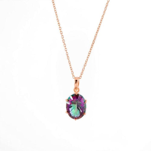 The Universe Necklace/18k Rose Gold Vermeil & Mystic Topaz - infinityXinfinity.co.uk