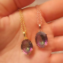 Load image into Gallery viewer, The Universe Necklace/18k Yellow Gold Vermeil & Mystic Topaz - infinityXinfinity.co.uk