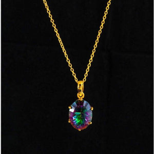 The Universe Necklace/18k Yellow Gold Vermeil & Mystic Topaz - infinityXinfinity.co.uk