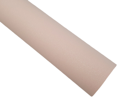 Pink Frosting Glitter Suede Fabric