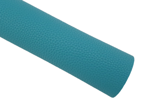 Teal Green Litchi Faux Leather