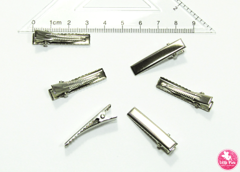 Alligator Hair Clips (with teeth) - choose from 5 pcs / 10 pcs / 20 pcs Size:  32mm x 6mm Colour:  Silver