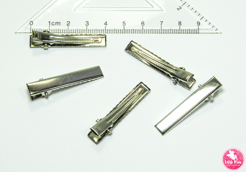 Alligator Hair Clips (with teeth) - choose from 5 pcs / 10 pcs / 20 pcs Size:  40mm x 7mm Colour:  Silver