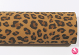 Animal Print - Tan Leopard - Suede Leatherette