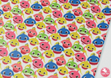 Baby Shark - Litchi Print Leatherette Full Sheet - (measures 20 x 34cm) larger than standard A4 size Half Sheet -  (measures 20 x 17cm) larger than standard A5 size (available upon request if in stock, please contact us)