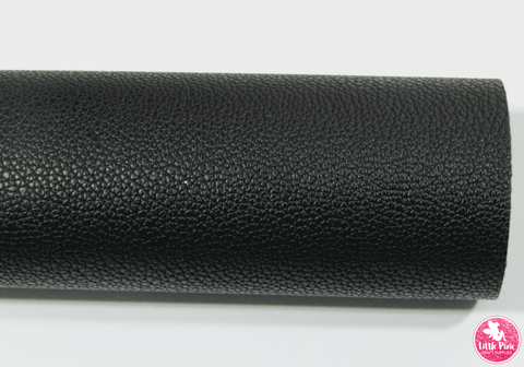 Black - (0.75mm) Litchi Print Leatherette