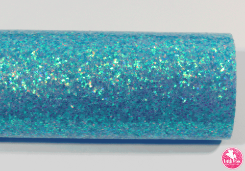 Blue - Smooth Glitter Leatherette (with a colour matching backing)