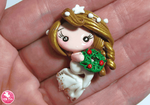 Christmas Mermaid - Clay Embellishment