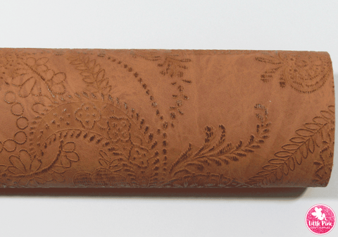 Cinnamon - Vintage Embossed Leatherette