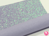 Dazzling Periwinkle - Chunky Glitter Leatherette (with a colour matching backing) Full Sheet - (measures 20 x 34cm) larger than standard A4 size Half Sheet -  (measures 20 x 17cm) larger than standard A5 size