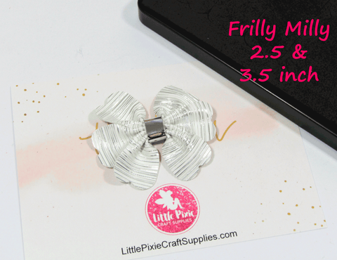 "Frilly Milly - 2.5"" & 3.5"" Bow Die"